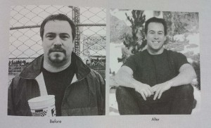 Ray Cronise, before and after Cold Therapy